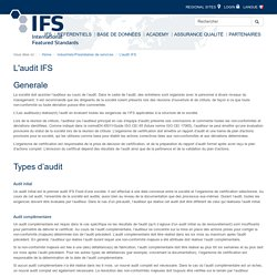 IFS Database - L'audit IFS