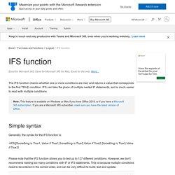 IFS function