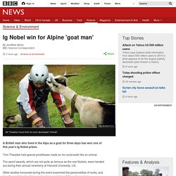 Ig Nobel win for Alpine 'goat man'