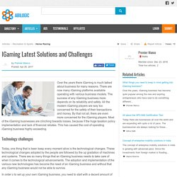 IGaming Latest Solutions and Challenges