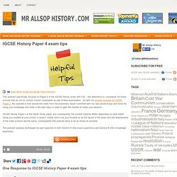 History revision for GCSE, IGCSE, IB and AS/A2 History