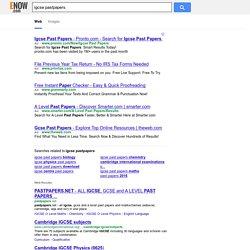 igcse pastpapers - enow.com - Web Results