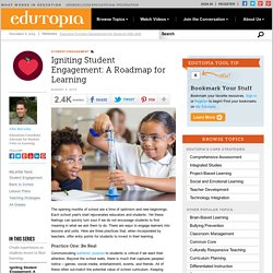 Igniting Student Engagement: A Roadmap for Learning