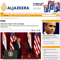 'Ignorance high' in US over Egypt - Americas