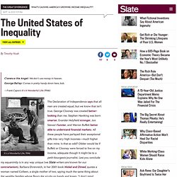 Why we can't ignore growing income inequality. (1) - By Timothy Noah
