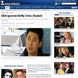 DEA Ignored All My Cries: Student