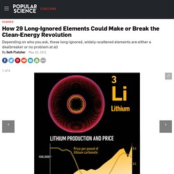 How 29 Long-Ignored Elements Could Make or Break the Clean-Energy Revolution
