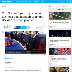 Ignoring science isn't a Republican problem. It's an American problem.