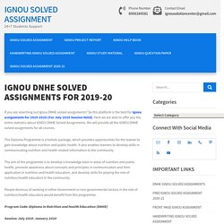IGNOU DNHE Solved Assignments 2019-20