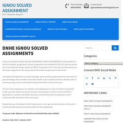 IGNOU Assignments DNHE 2019-20