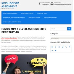 IGNOU MPA SOLVED ASSIGNMENTS FREE