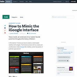How to Mimic the iGoogle Interface - NETTUTS