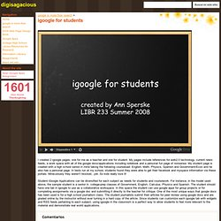 igoogle for students - digisagacious