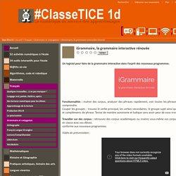 iGrammaire, la grammaire interactive rénovée