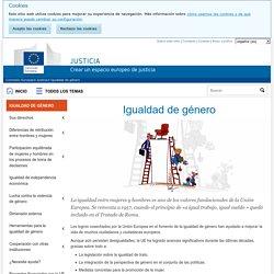 Igualdad de género - Comisión Europea
