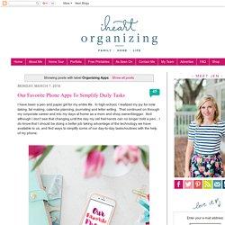 IHeart Organizing: Organizing Apps