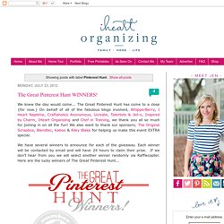 IHeart Organizing: Pinterest Hunt