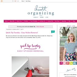IHeart Organizing: Quick Tip