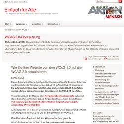 Wie Sie Ihre Website von den WCAG 1.0 auf die WCAG 2.0 aktualisieren