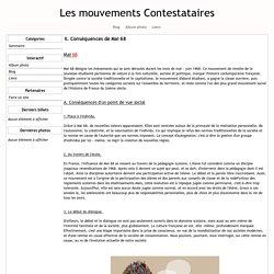 II. Conséquences de Mai 68 - Les mouvements Contestataires