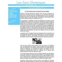 II.Les enjeux économiques des J-O - Les Jeux Olympiques