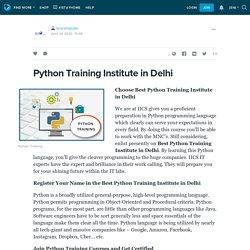 Python Training Institute in Delhi: iicscomputer — LiveJournal