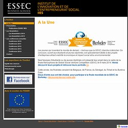 ESSEC - Chaire Entrepreneuriat Social