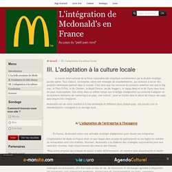 III. L'adaptation à la culture locale