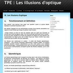III. Les illusions d'optique