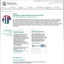 IIntegrated Trade Intelligence Portal (I-TIP)