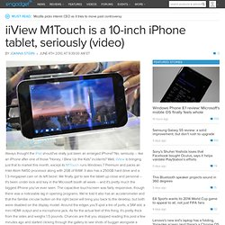 iiView M1Touch is a 10-inch iPhone tablet, seriously (video) --