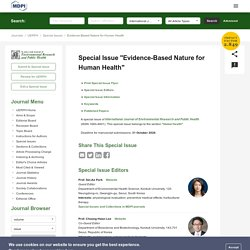 Special Issue : Evidence-Based Nature for Human Health