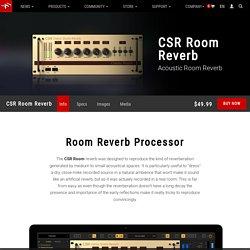 IK Multimedia - CSR Room Reverb