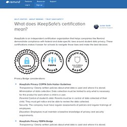 What does iKeepSafe's certification mean? – Help Center
