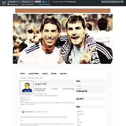 iker&sergio: real (madrid) love - Sergio's Gift