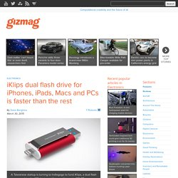 iKlips dual flash drive for iPhones, iPads, Macs and PCs is faster than the rest