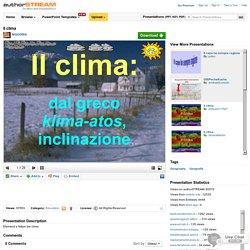 Il Clima Ppt Presentation