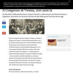 Il contesto del Congresso di Vienna