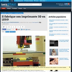 Il fabrique son imprimante 3D en LEGO