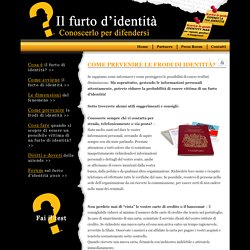 Il Furto D'identità - Prevenire il furto