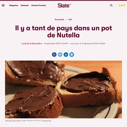 Il y a tant de pays dans un pot de Nutella