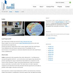 iCampus: iLabs