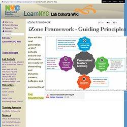 ilearnNYCLabCohorts - iZone Framework
