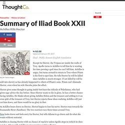 Iliad Book XXII - Achilles Kills Hector