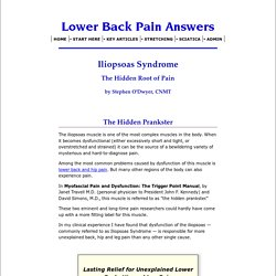 Iliopsoas Syndrome: The Hidden Root of Pain