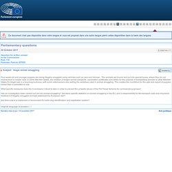 PARLEMENT EUROPEEN - Réponse à question E-006744-17 Illegal animal smuggling