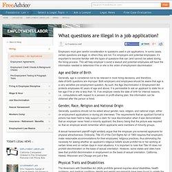 Illegal Job Application Questions