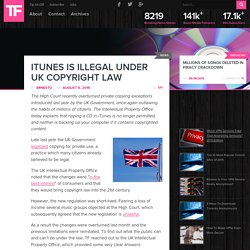 iTunes is Illegal Under UK Copyright Law - TorrentFreak
