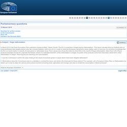 PARLEMENT EUROPEEN - Réponse à question E-004469-15 Illegal deforestation