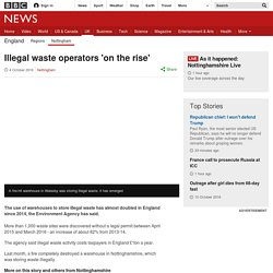 Illegal waste operators 'on the rise'